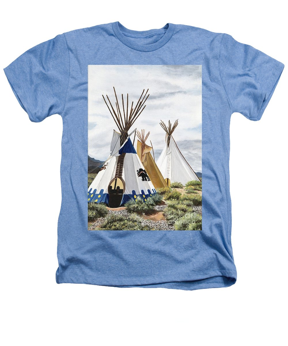 Art Heathers T-Shirt featuring the painting Taos by Mary Rogers