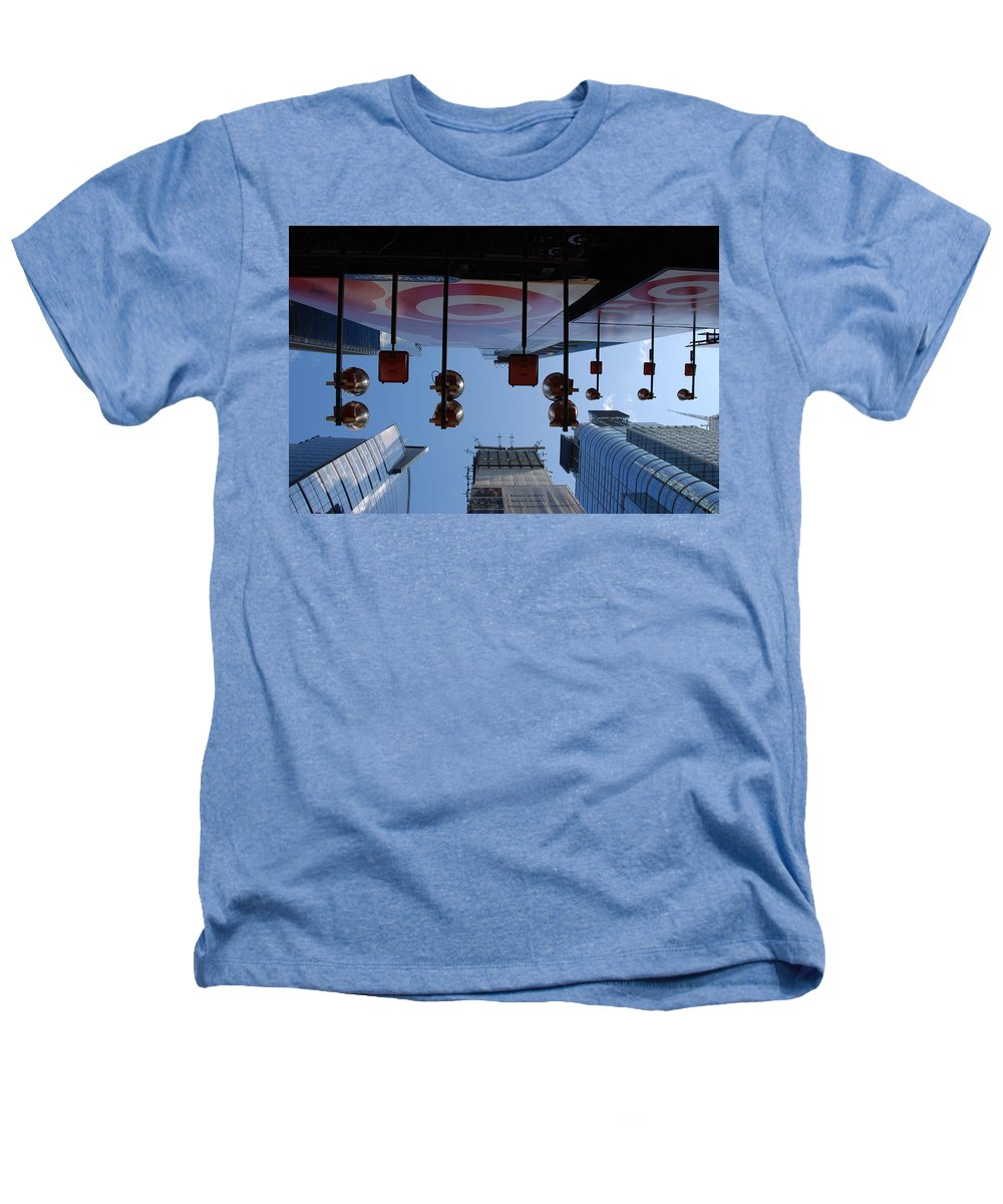 Architecture Heathers T-Shirt featuring the photograph Target Lights by Rob Hans