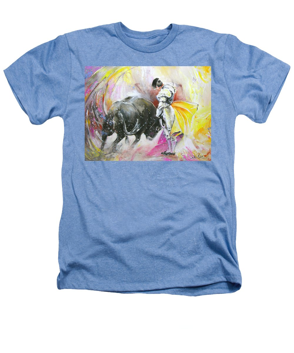 Animals Heathers T-Shirt featuring the painting Taurean Power by Miki De Goodaboom