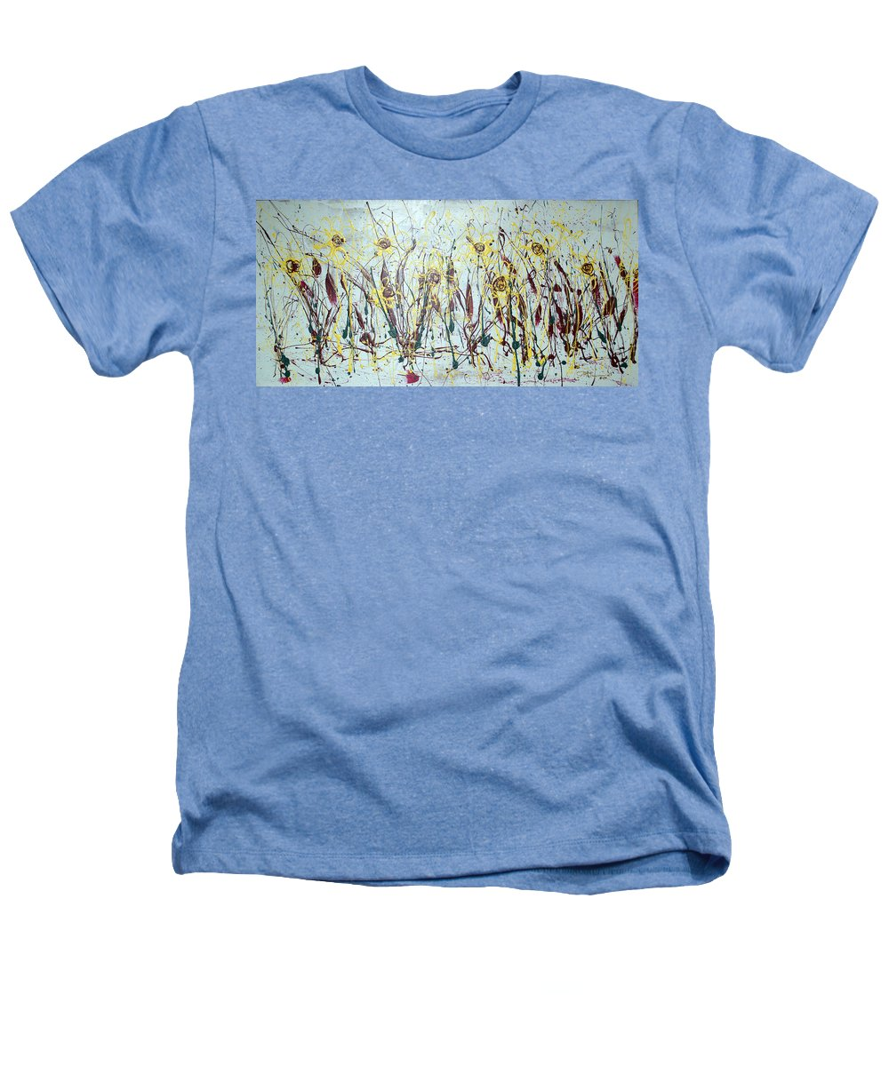 Flowers Heathers T-Shirt featuring the painting Tending My Garden by J R Seymour