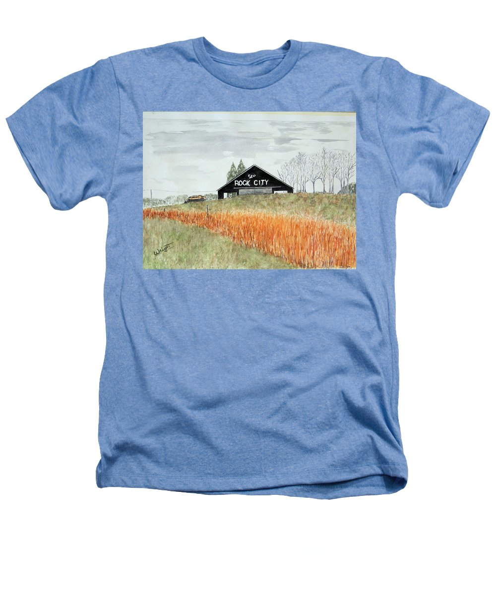 Barns Heathers T-Shirt featuring the painting Tennessee Destination by Larry Wright