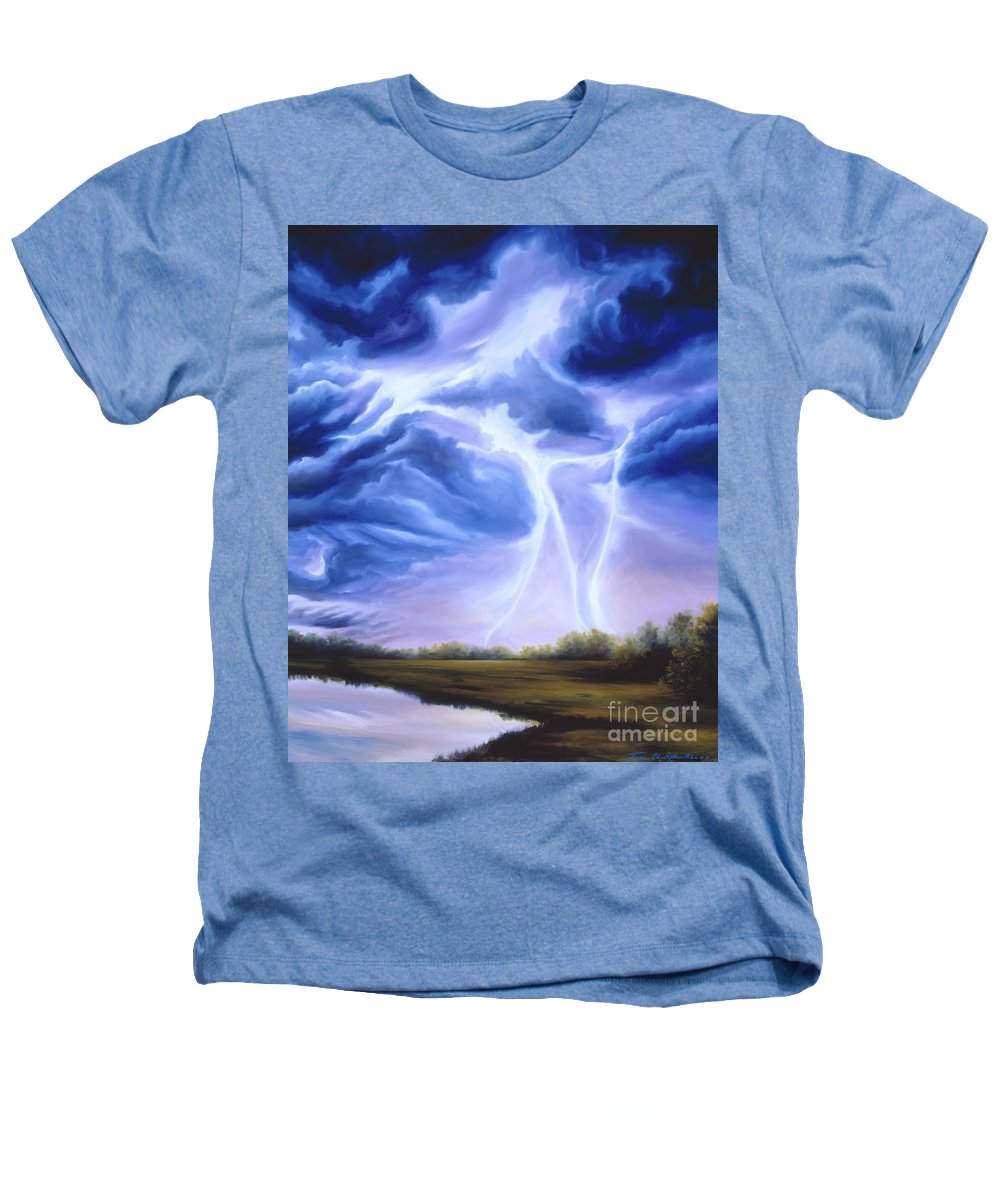 Marsh Heathers T-Shirt featuring the painting Tesla by James Christopher Hill