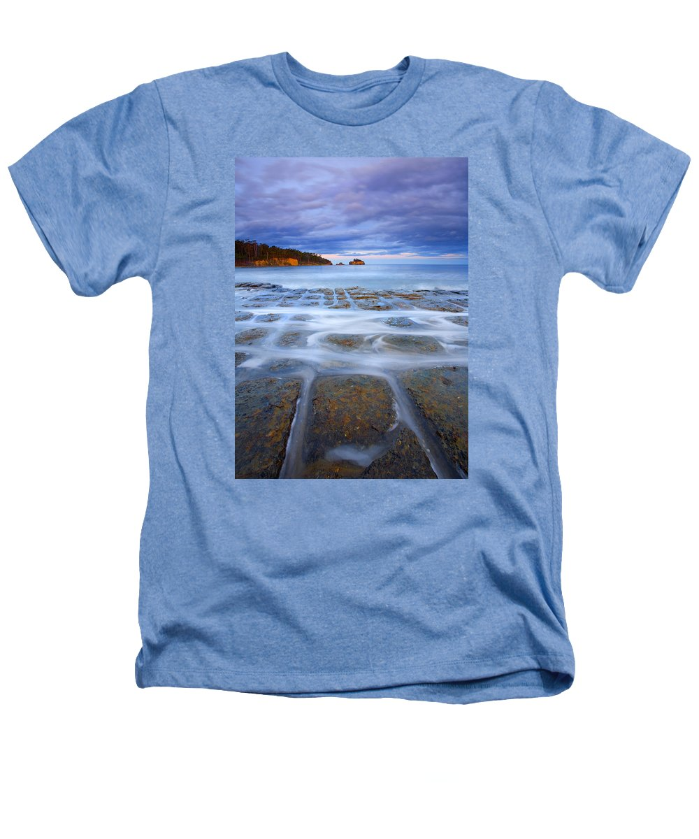 Sunset Heathers T-Shirt featuring the photograph Tesselated Sunset by Mike Dawson