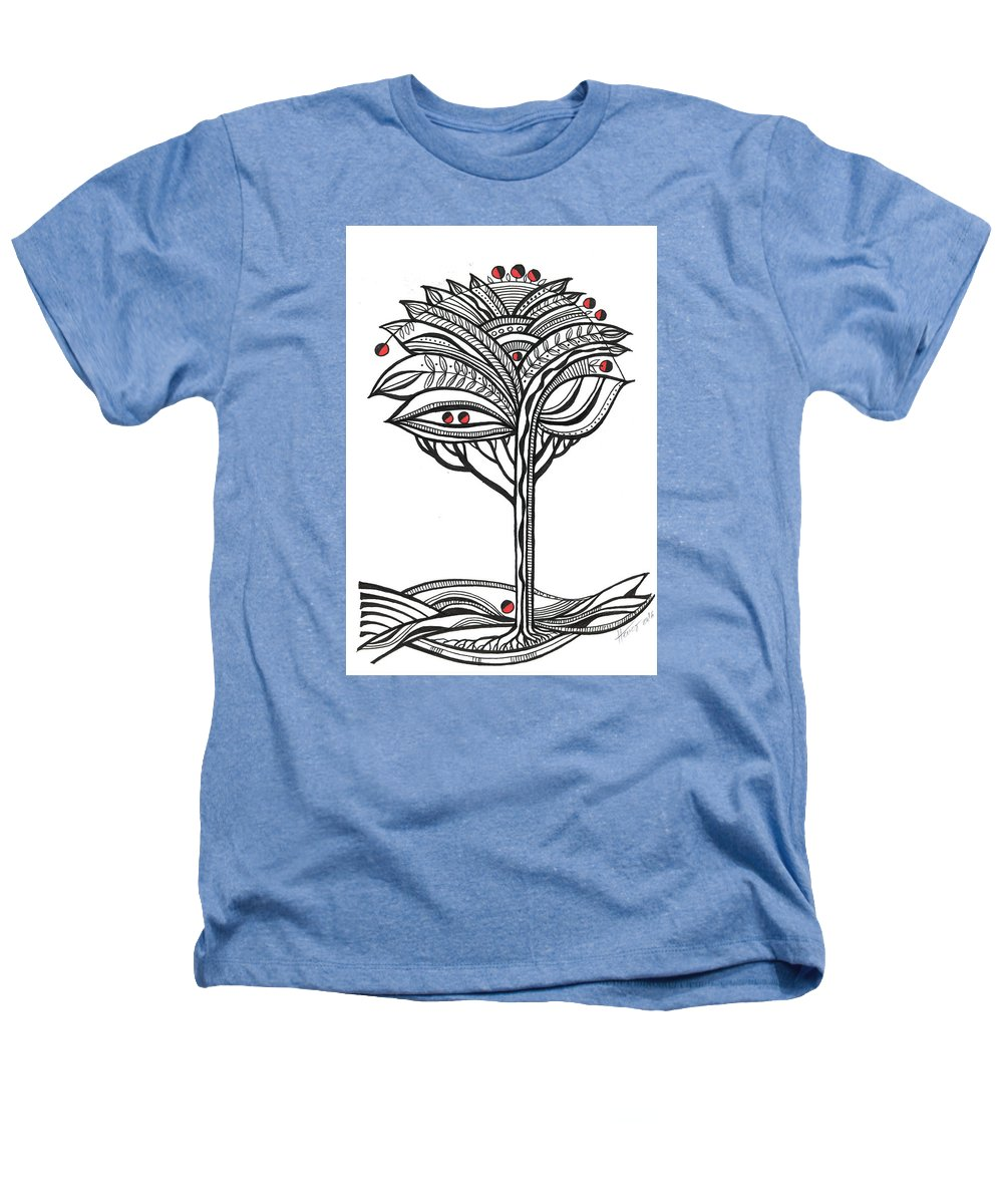 Abstract Heathers T-Shirt featuring the drawing The Apple Tree by Aniko Hencz