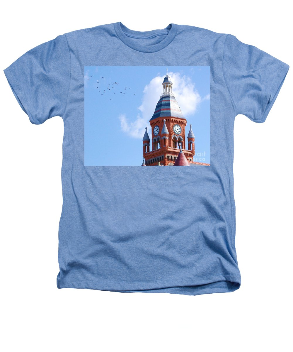 Clock Heathers T-Shirt featuring the photograph The Birds by Debbi Granruth
