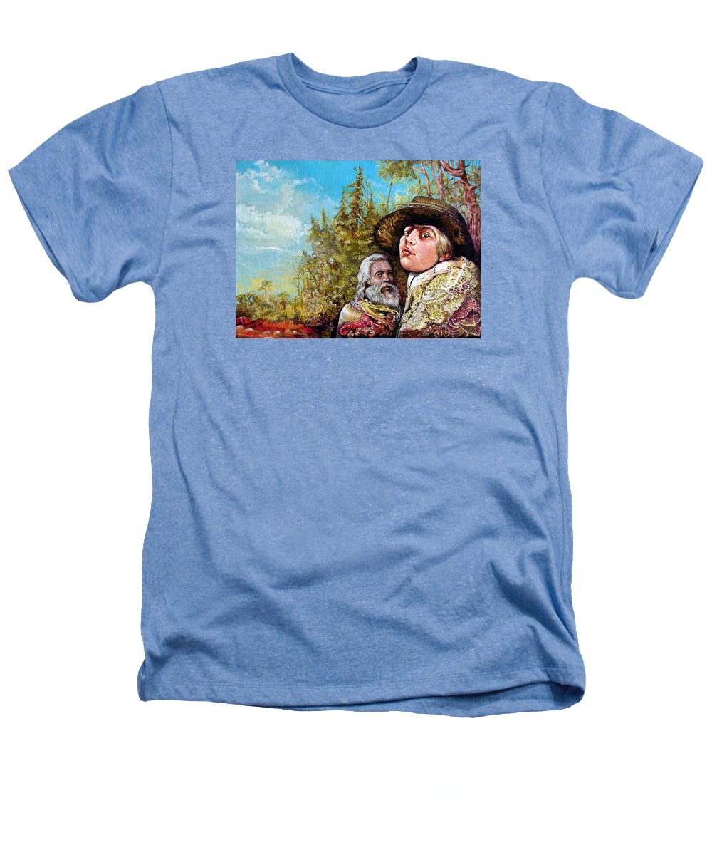 Surrealism Heathers T-Shirt featuring the painting The Dauphin And Captain Nemo Discovering Bogomils Island by Otto Rapp
