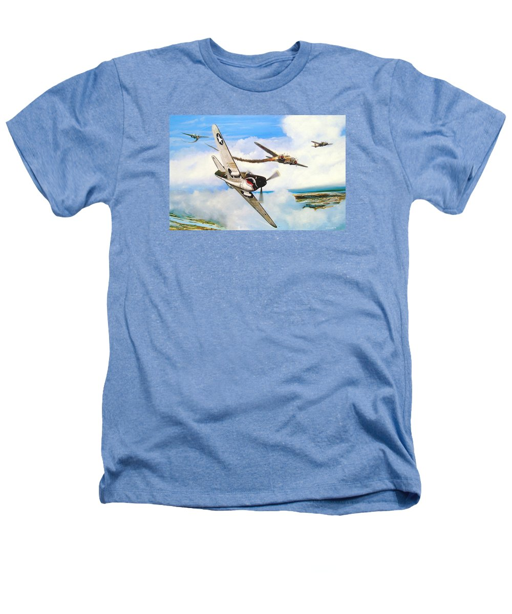 Military Heathers T-Shirt featuring the painting The Day I Owned The Sky by Marc Stewart