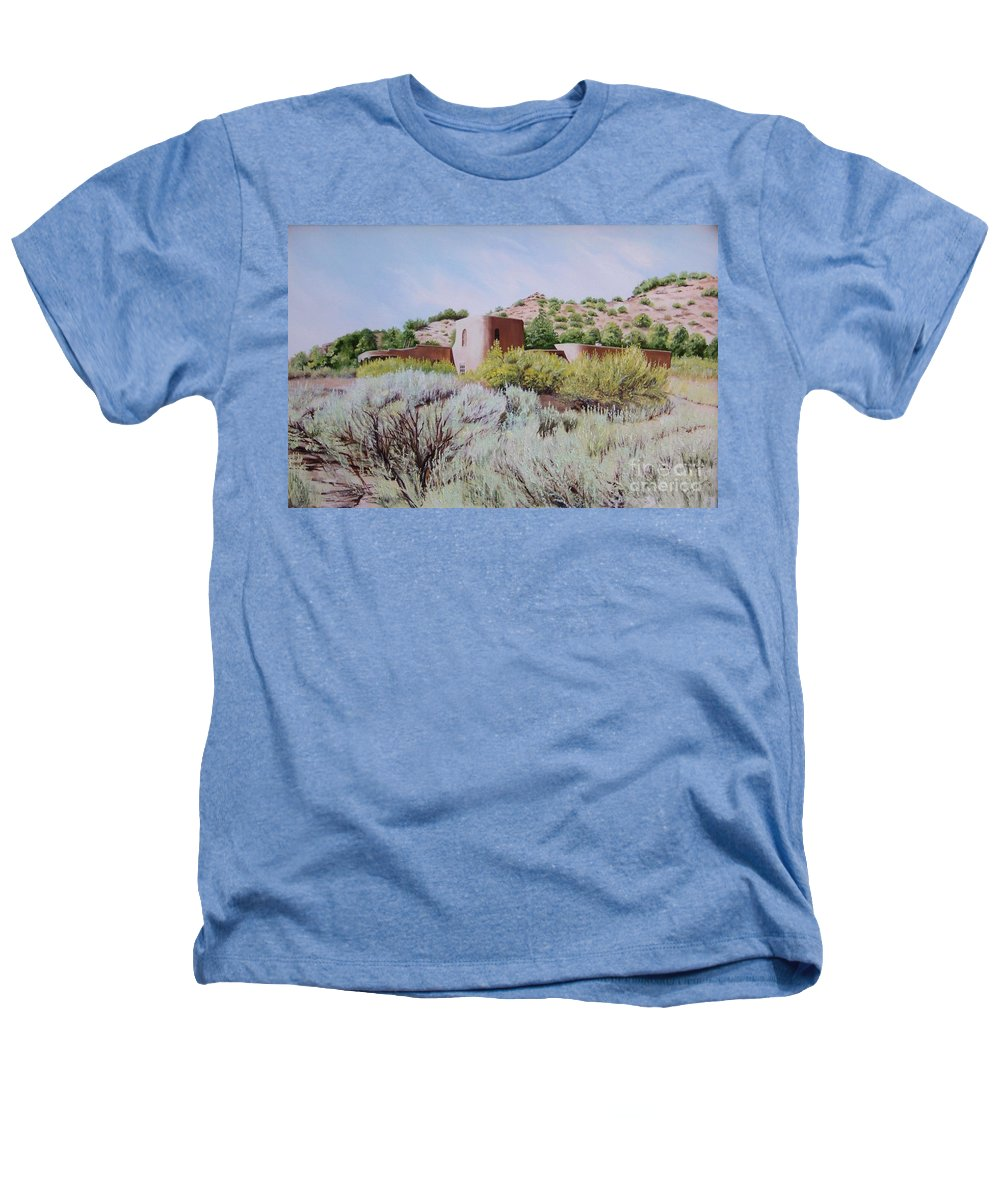 Usa Heathers T-Shirt featuring the painting The Dixon House by Mary Rogers