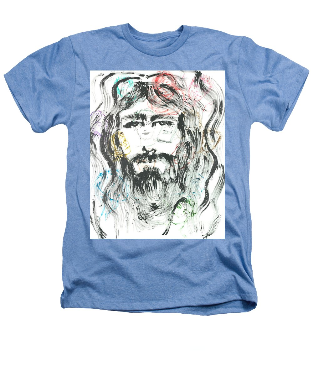 Jesus Heathers T-Shirt featuring the painting The Emotions Of Jesus by Nadine Rippelmeyer