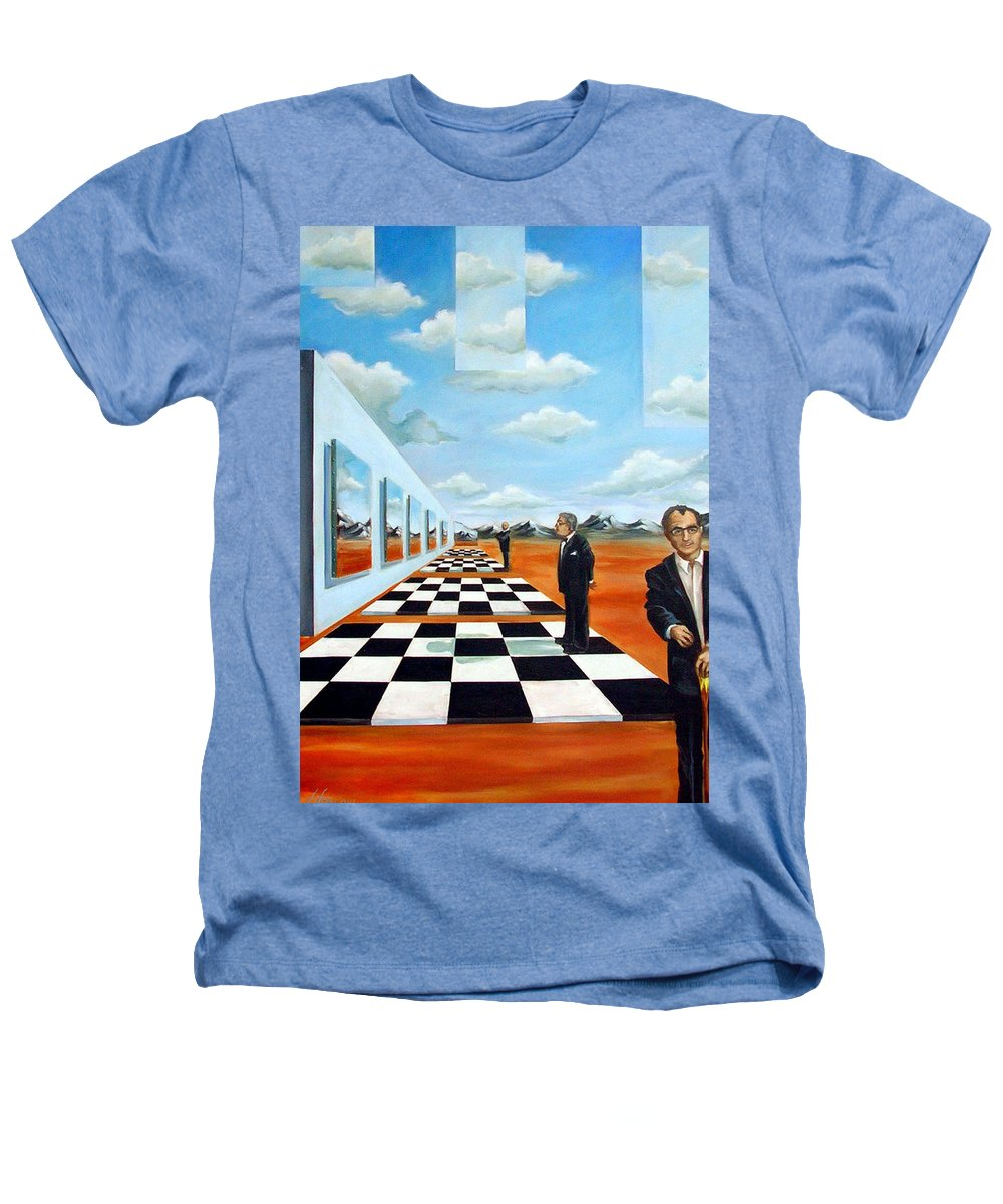 Surreal Heathers T-Shirt featuring the painting The Gallery by Valerie Vescovi