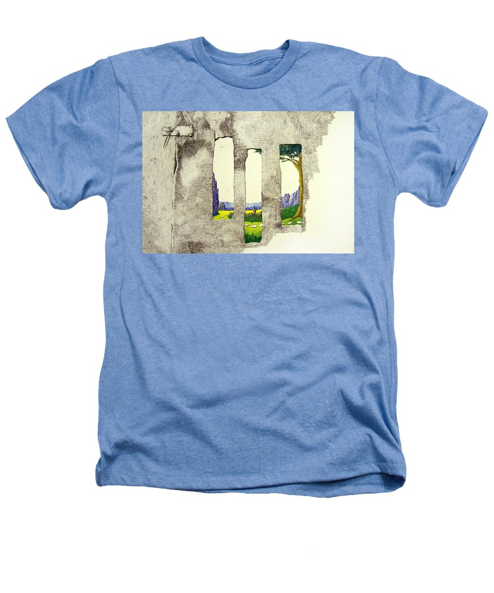 Imaginary Landscape. Heathers T-Shirt featuring the painting The Garden by A Robert Malcom