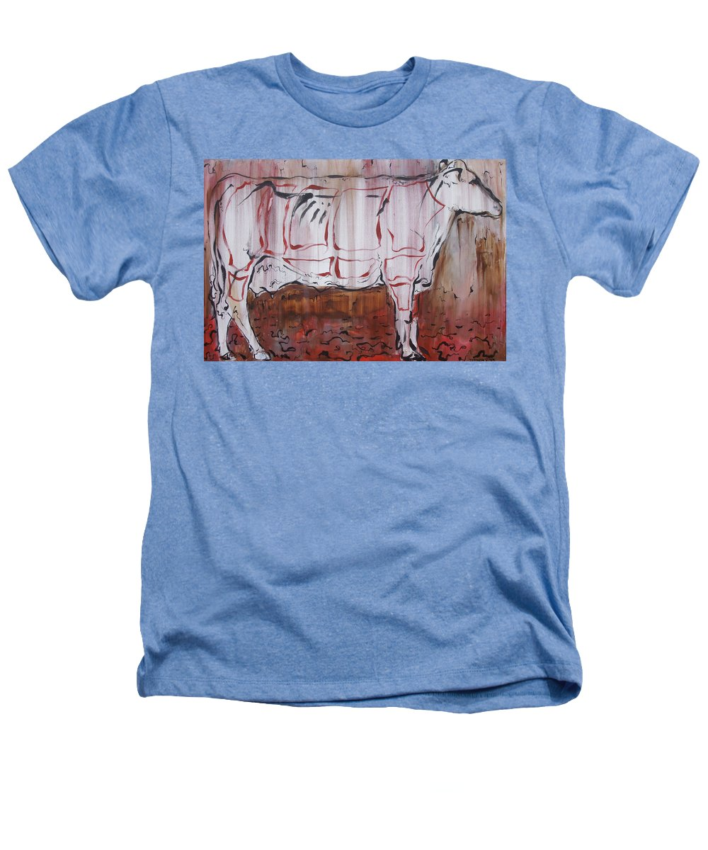 Cow Heathers T-Shirt featuring the painting The Giver by Julie Fischer