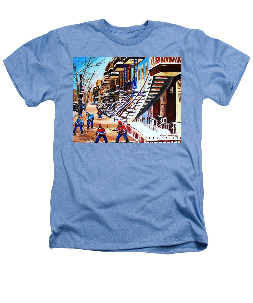 Hockey Heathers T-Shirt featuring the painting The Gray Staircase by Carole Spandau