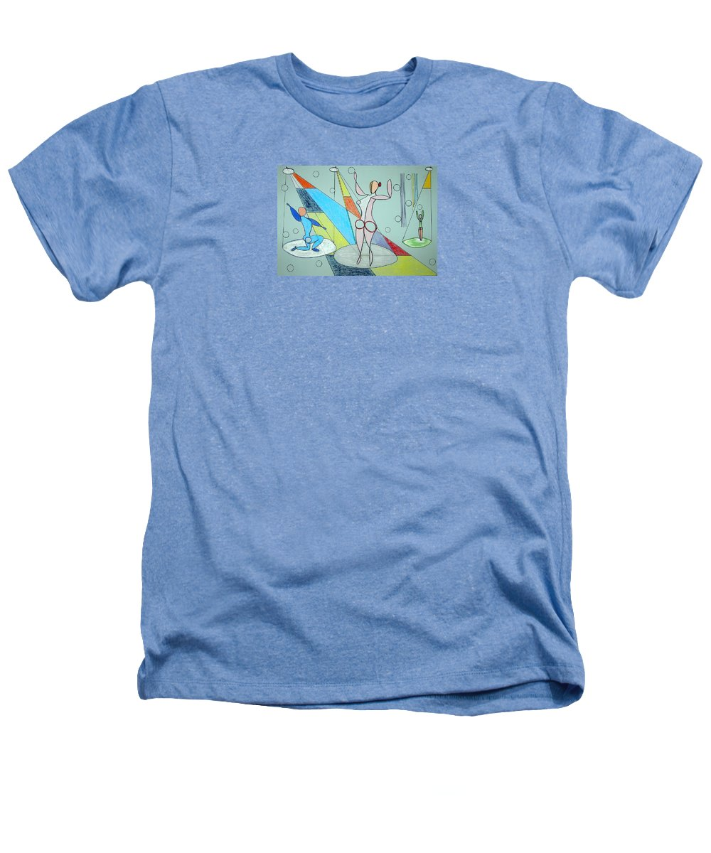 Juggling Heathers T-Shirt featuring the drawing The Jugglers by J R Seymour