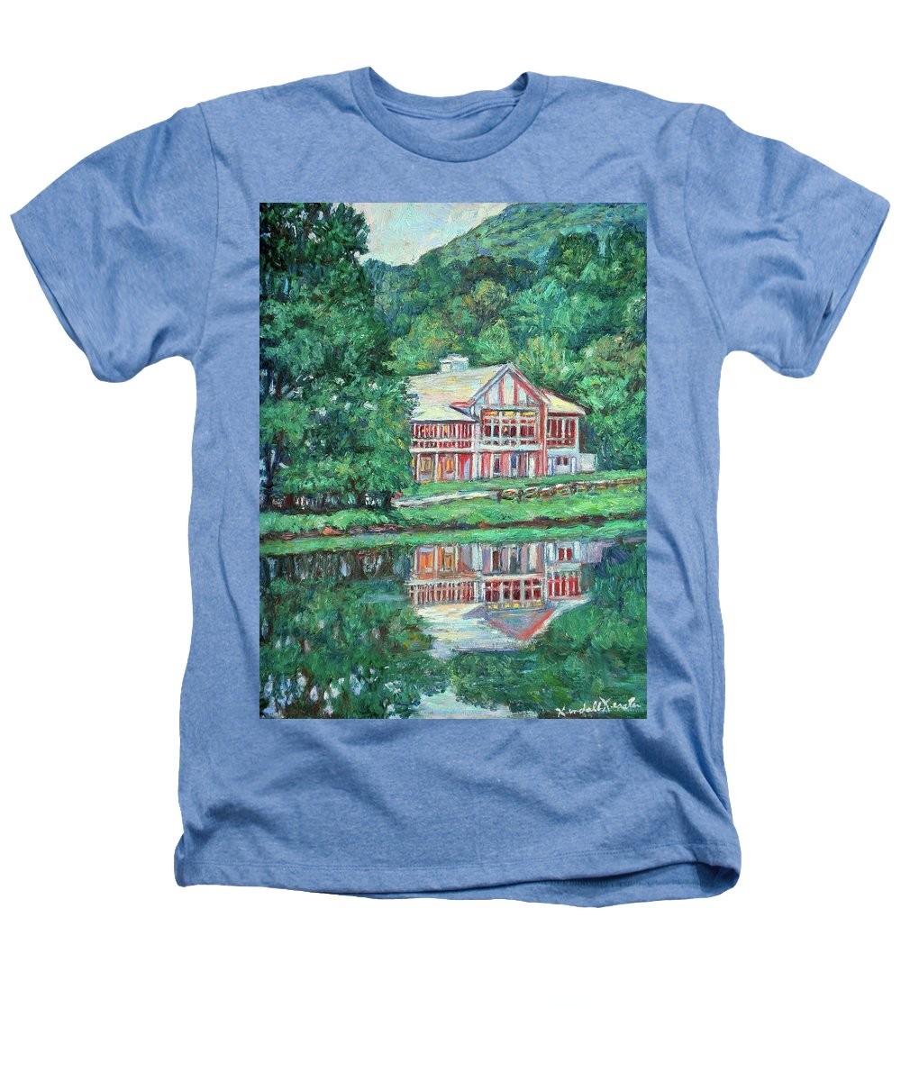 Lodge Paintings Heathers T-Shirt featuring the painting The Lodge At Peaks Of Otter by Kendall Kessler