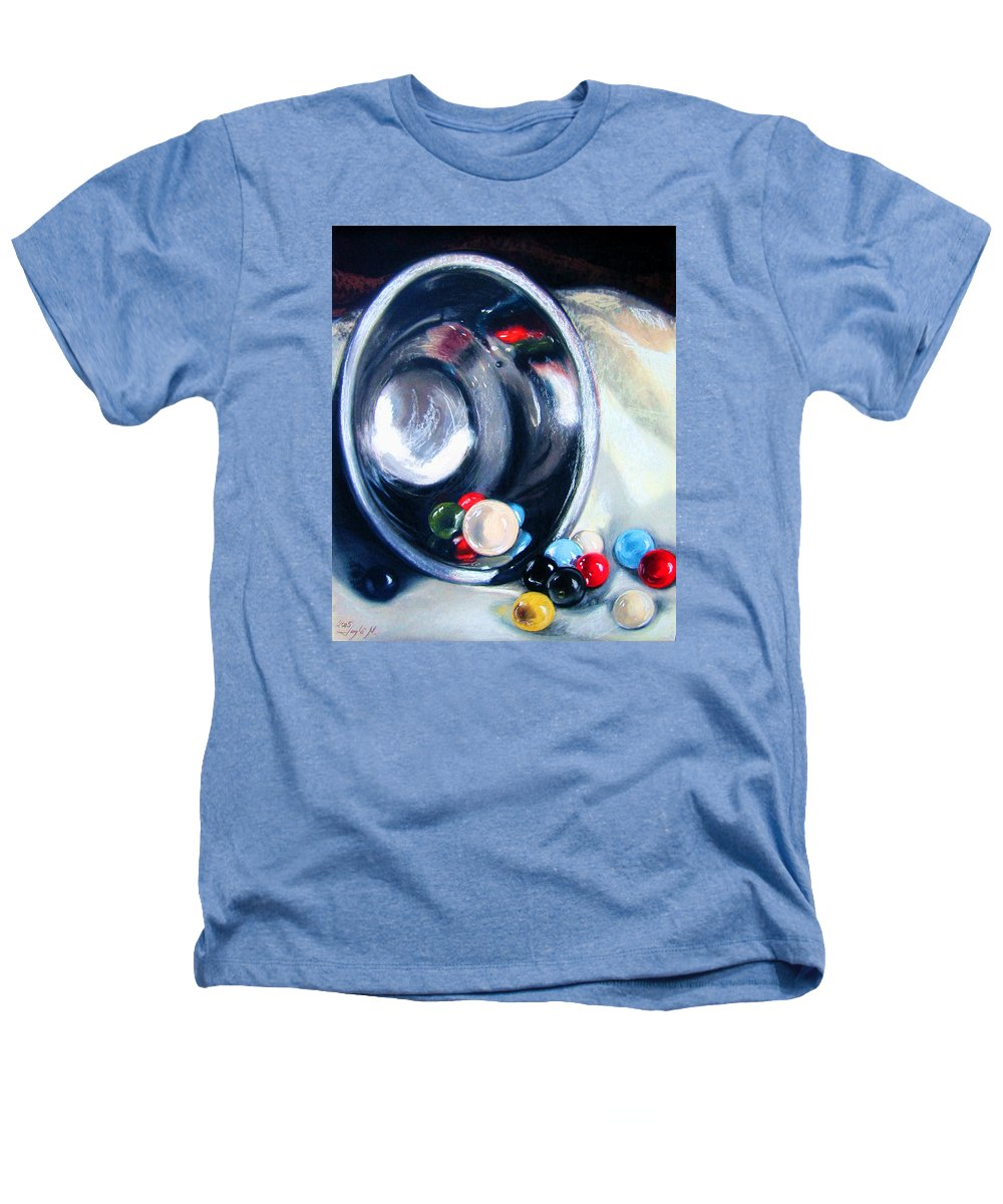 Marbles Heathers T-Shirt featuring the pastel The Marble Bowl by Leyla Munteanu
