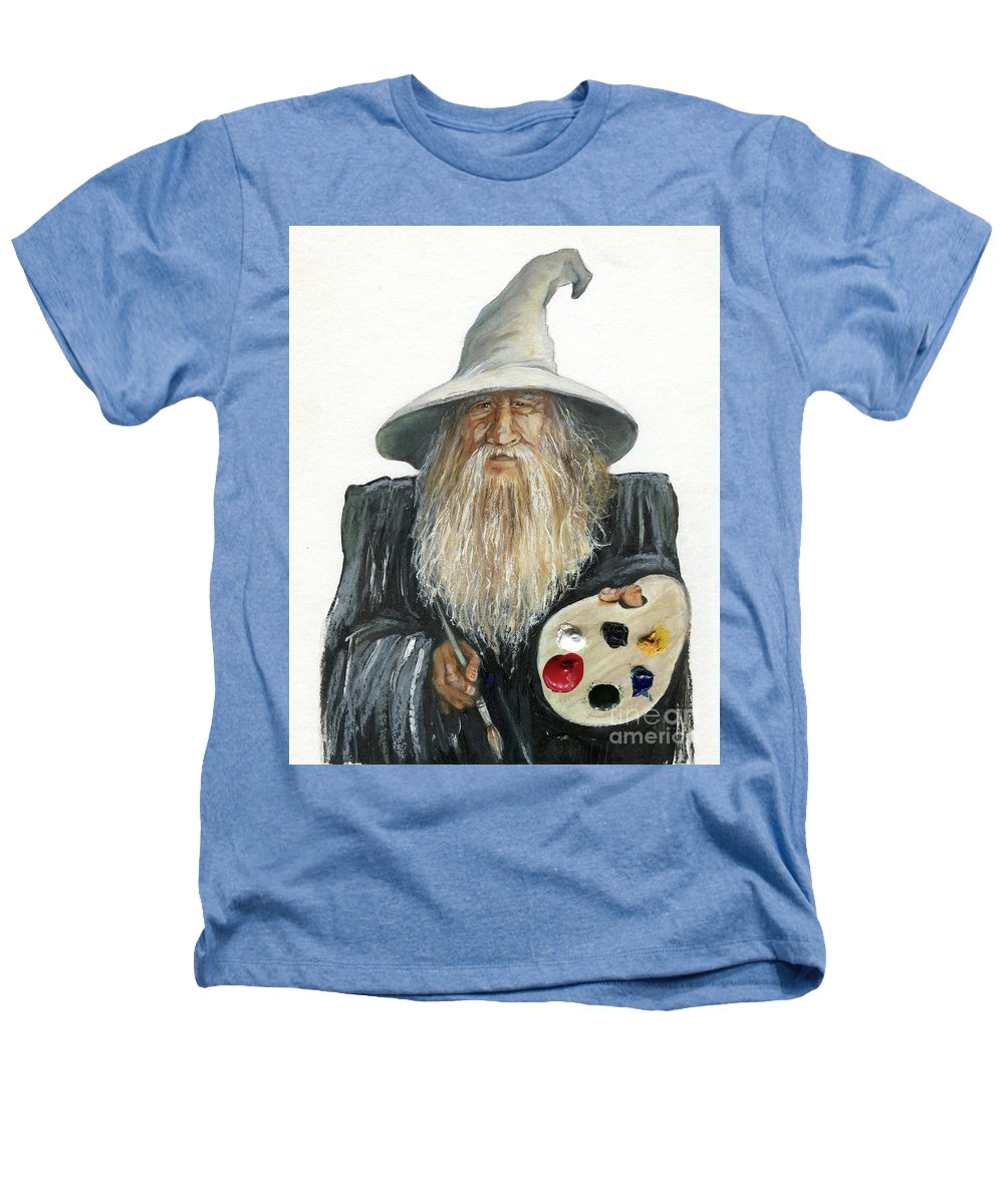 Wizard Heathers T-Shirt featuring the painting The Painting Wizard by J W Baker