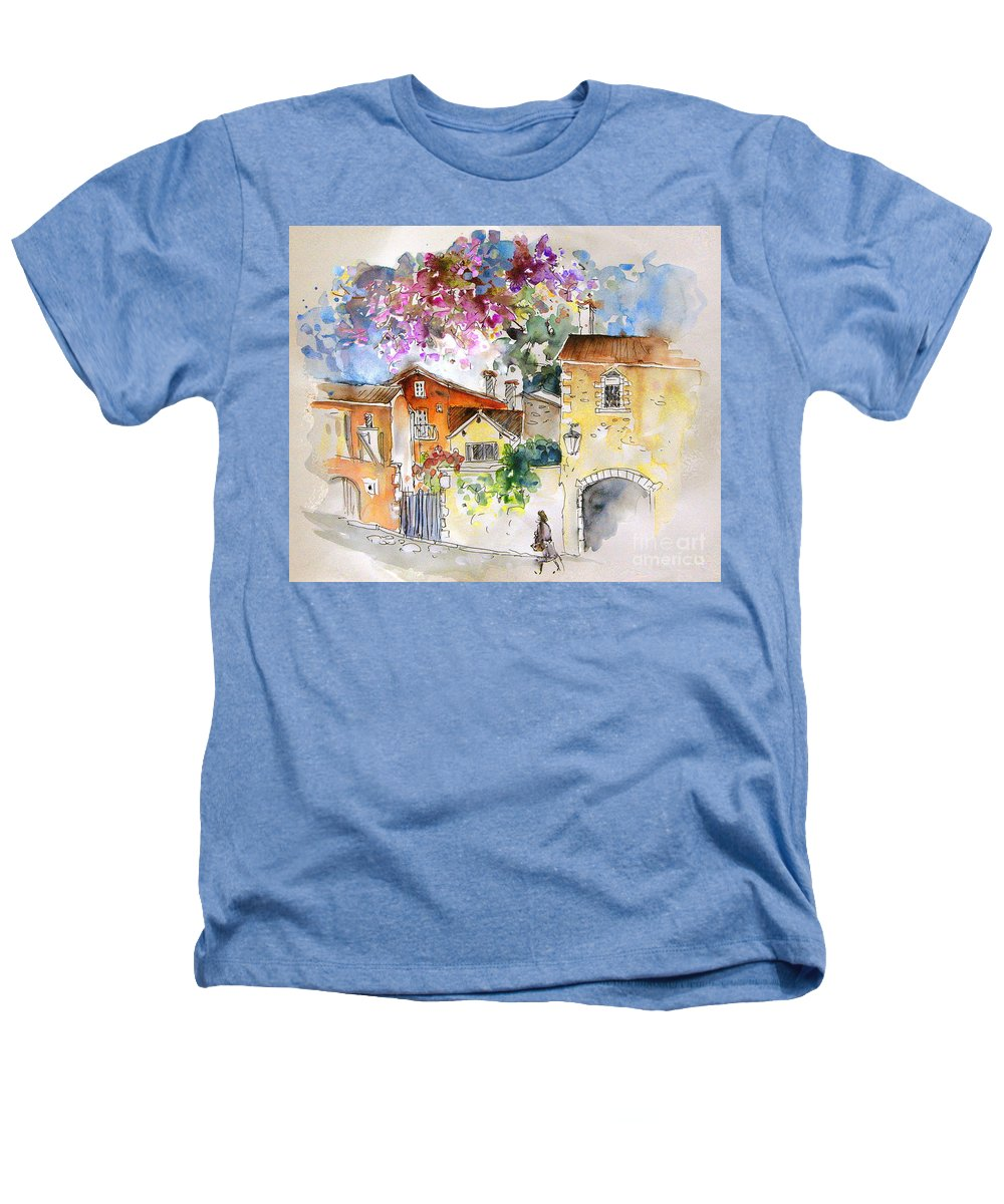 France Paintings Heathers T-Shirt featuring the painting The Perigord In France by Miki De Goodaboom