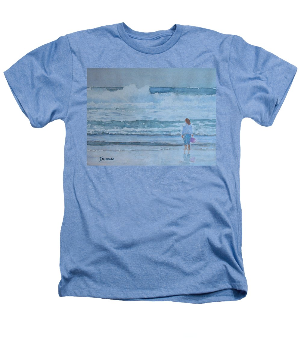 Bucket Heathers T-Shirt featuring the painting The Pink Bucket by Jenny Armitage