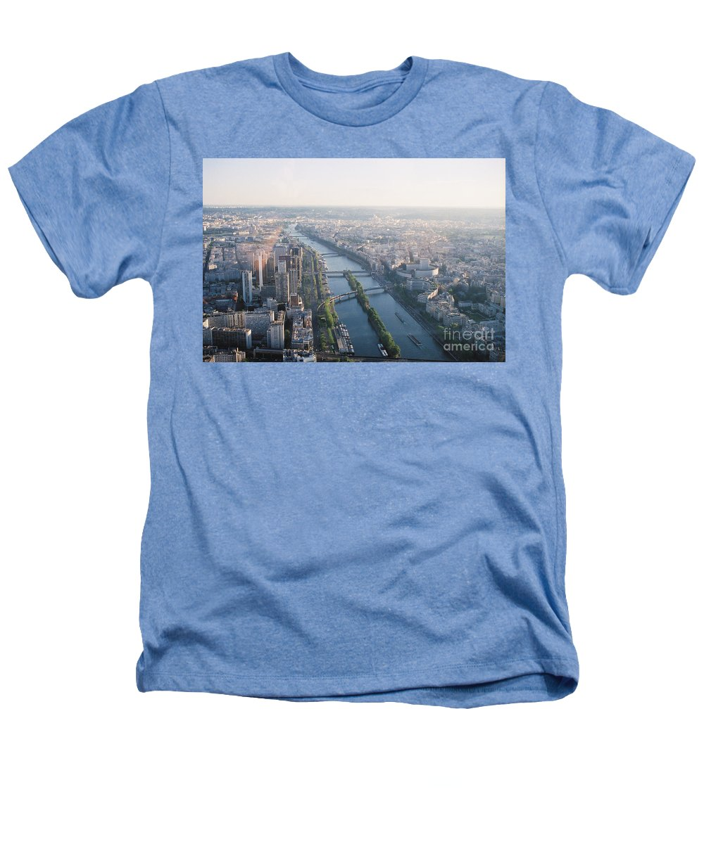 City Heathers T-Shirt featuring the photograph The Seine River In Paris by Nadine Rippelmeyer