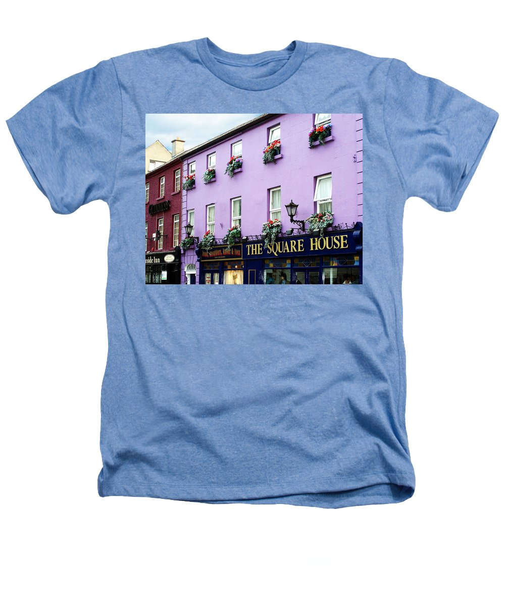 Irish Heathers T-Shirt featuring the photograph The Square House Athlone Ireland by Teresa Mucha