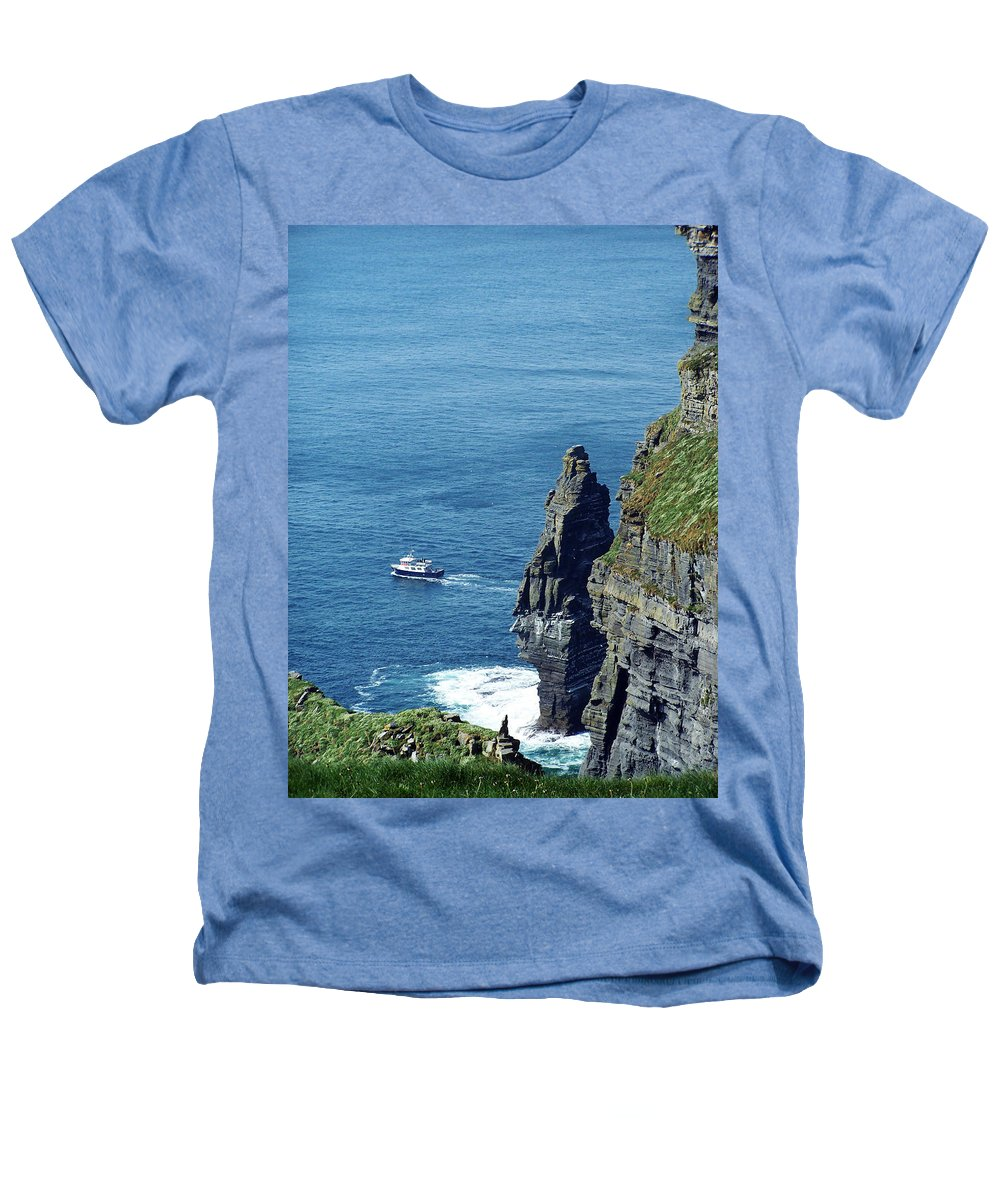 Irish Heathers T-Shirt featuring the photograph The Stack And The Jack B Cliffs Of Moher Ireland by Teresa Mucha