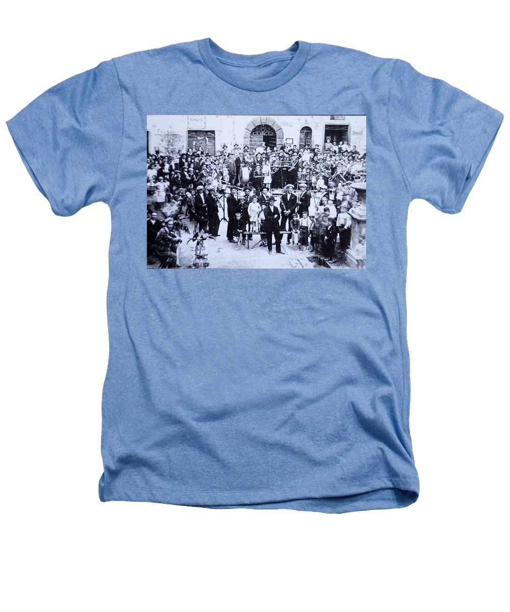 Tuscany Heathers T-Shirt featuring the photograph The Village Band by Kurt Hausmann