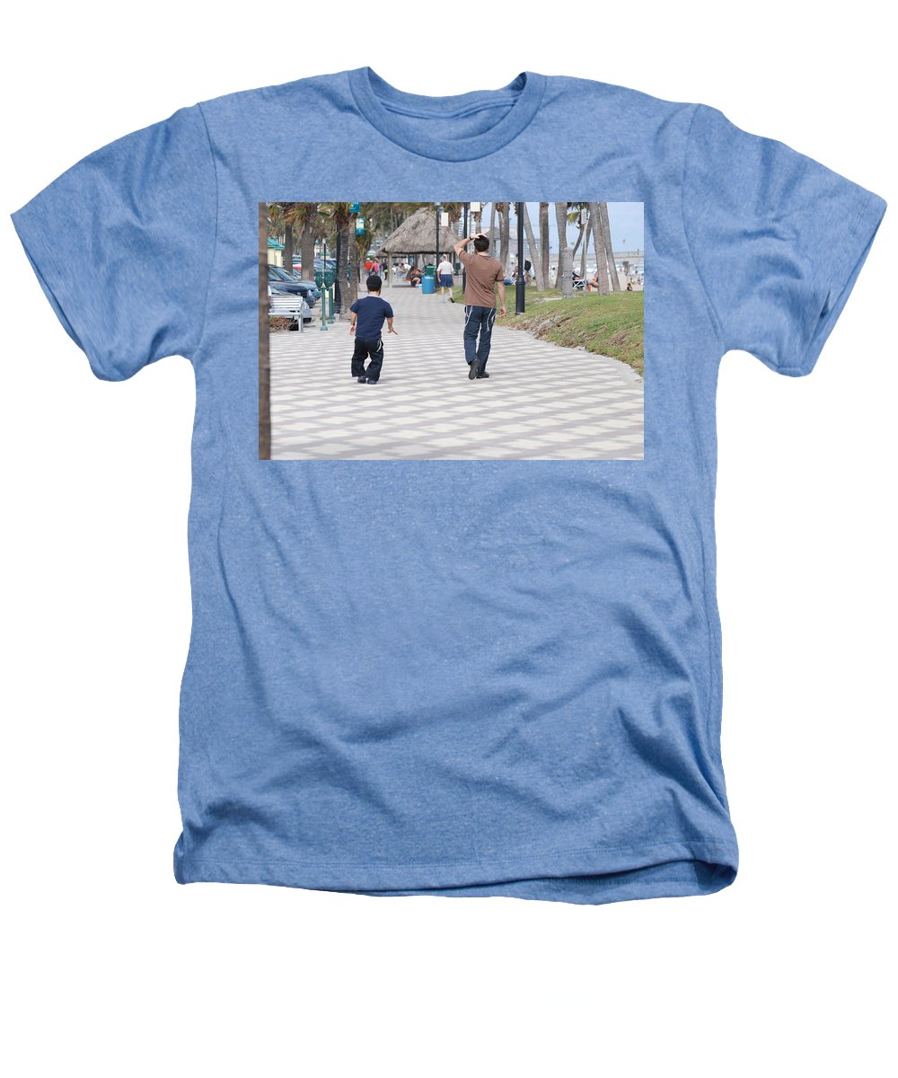 Man Heathers T-Shirt featuring the photograph The Walk by Rob Hans