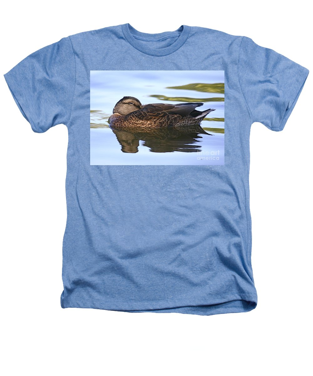 Duck Heathers T-Shirt featuring the photograph The Water Bed by Robert Pearson