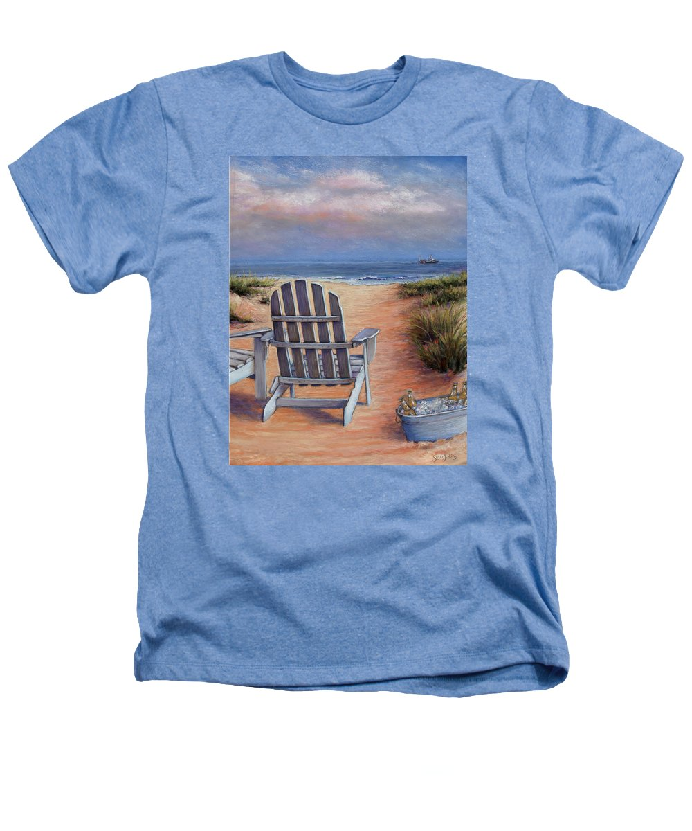 Landscape Heathers T-Shirt featuring the pastel Time To Chill by Susan Jenkins