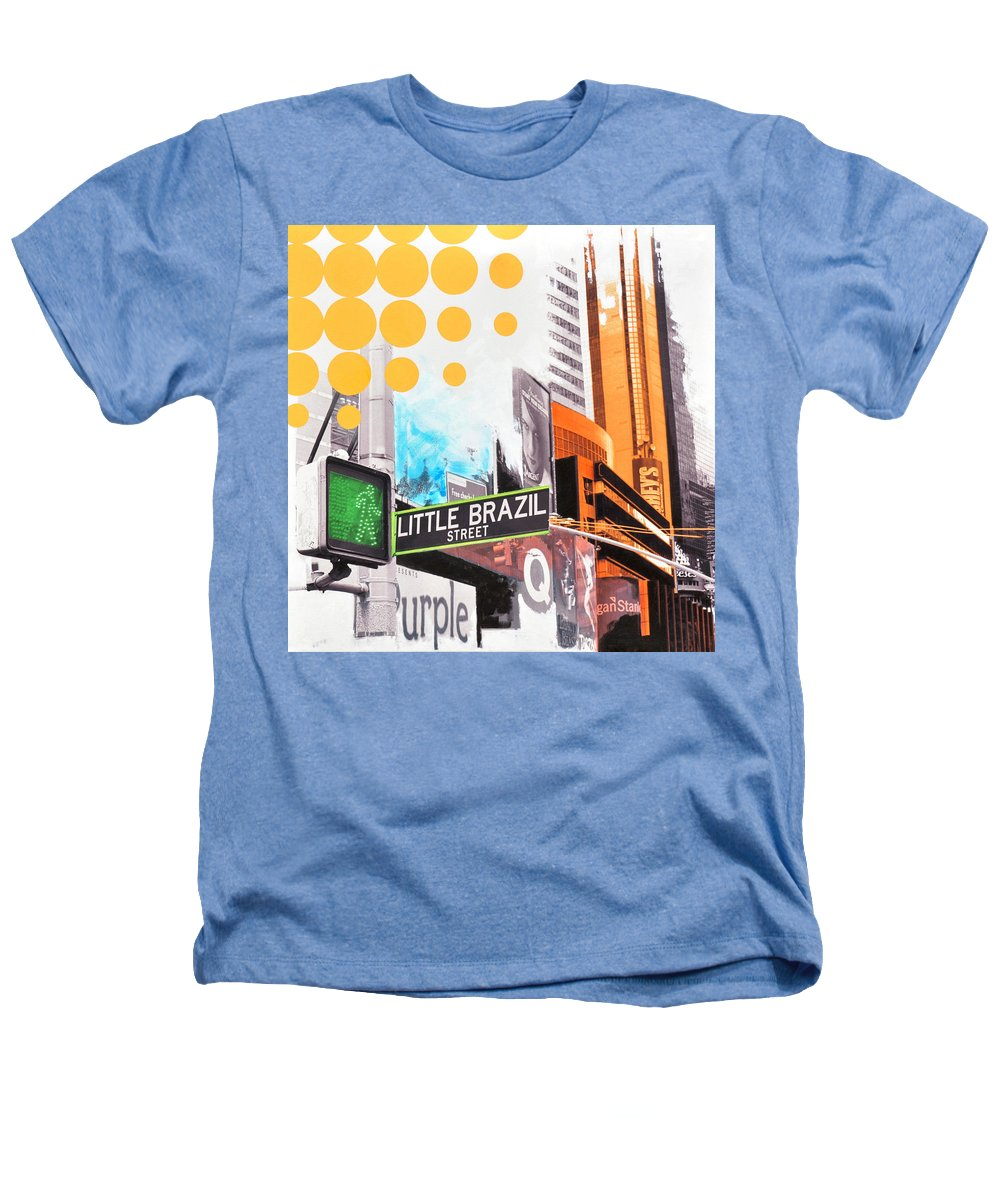 Ny Heathers T-Shirt featuring the painting Times Square Little Brazil by Jean Pierre Rousselet