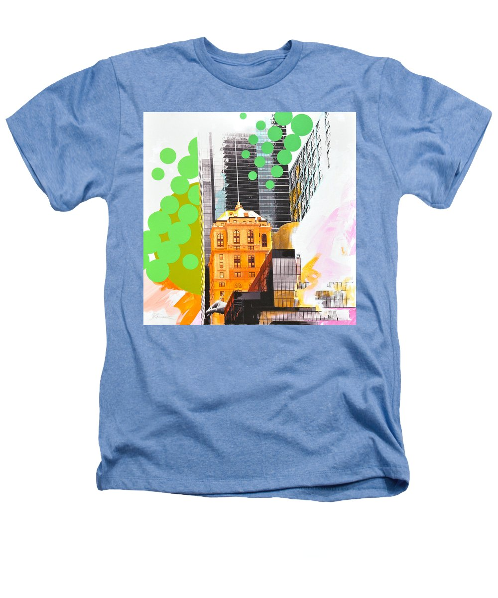 Ny Heathers T-Shirt featuring the painting Times Square Ny Advertise by Jean Pierre Rousselet