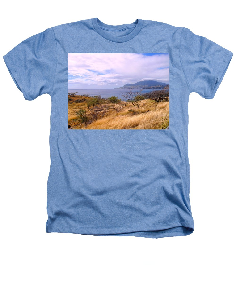 St Kitts Heathers T-Shirt featuring the photograph Towards Basseterre by Ian MacDonald