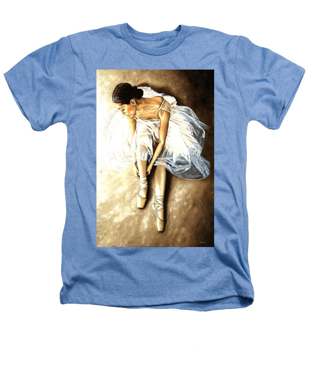 Ballet Heathers T-Shirt featuring the painting Tranquil Preparation by Richard Young