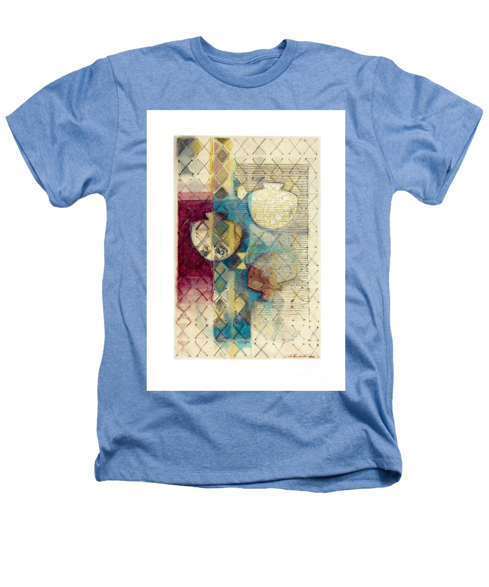 Mixed-media Heathers T-Shirt featuring the painting Trans Xs No 1 by Kerryn Madsen- Pietsch