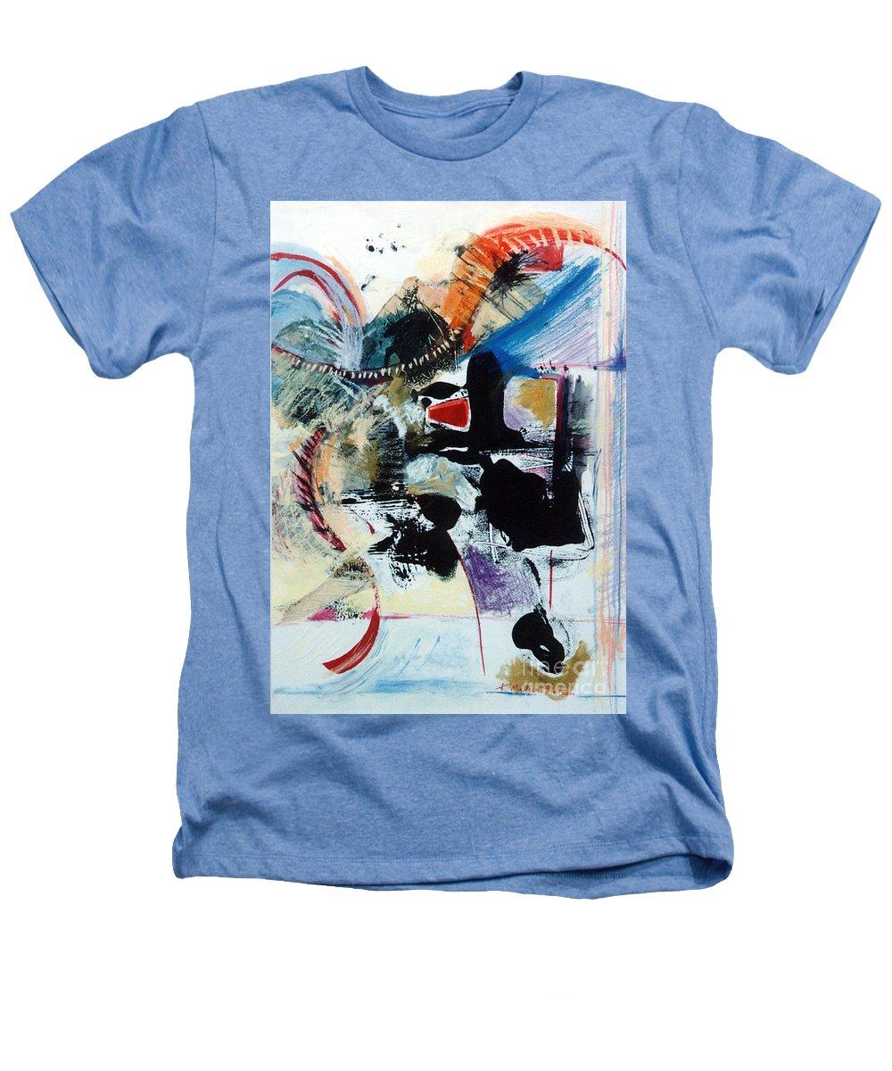 Transcendance Heathers T-Shirt featuring the drawing Transcendance by Kerryn Madsen-Pietsch