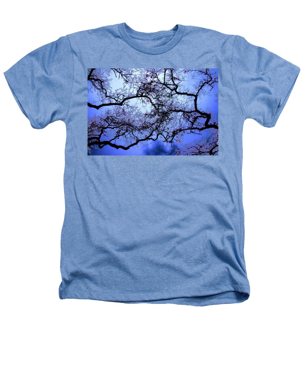 Scenic Heathers T-Shirt featuring the photograph Tree Fantasy In Blue by Lee Santa