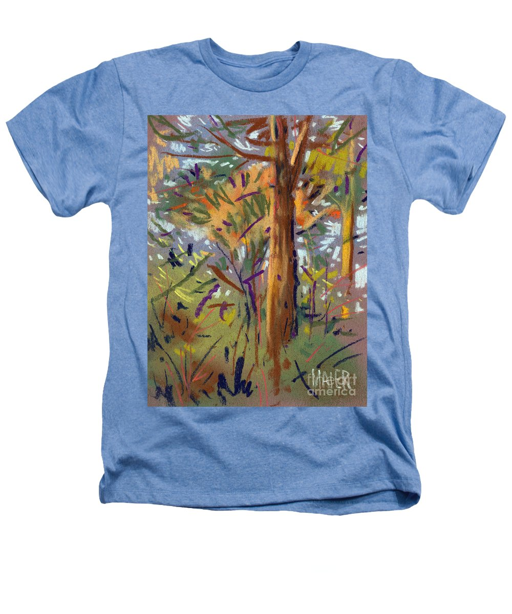 Trees Heathers T-Shirt featuring the drawing Tree Sketch by Donald Maier