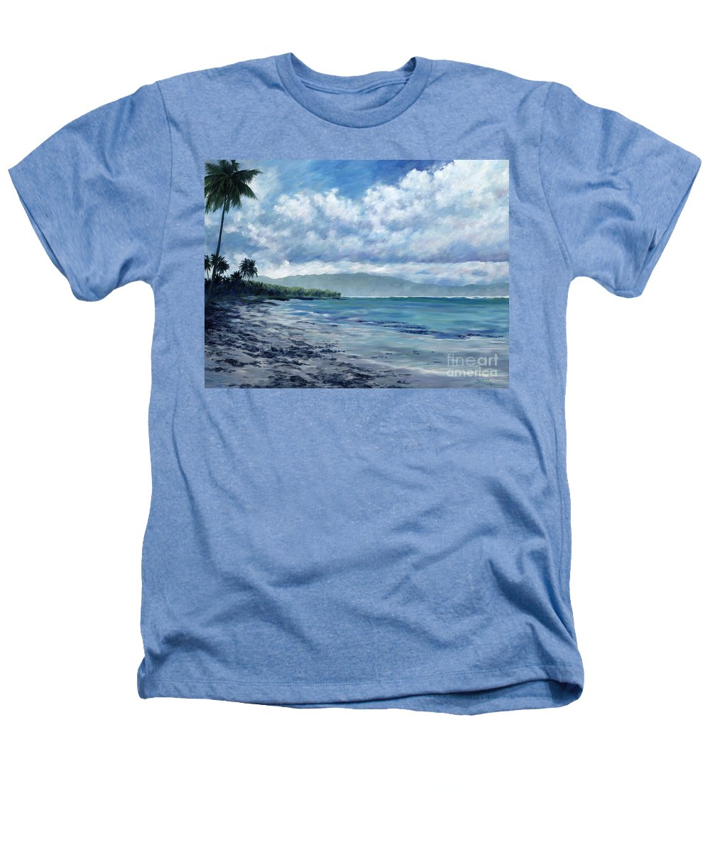 Seascape Heathers T-Shirt featuring the painting Tropical Rain by Danielle Perry