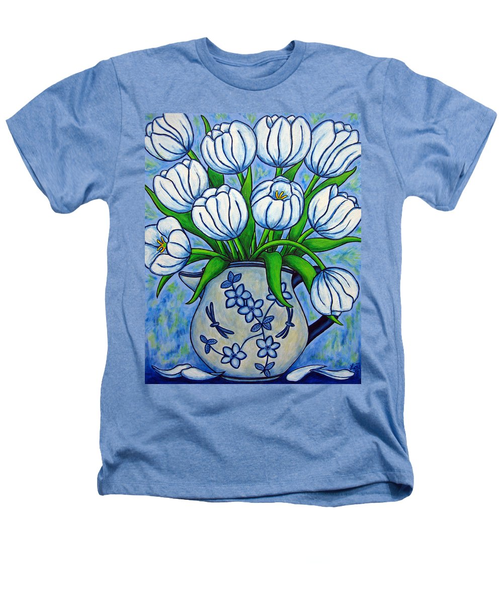 Flower Heathers T-Shirt featuring the painting Tulip Tranquility by Lisa Lorenz