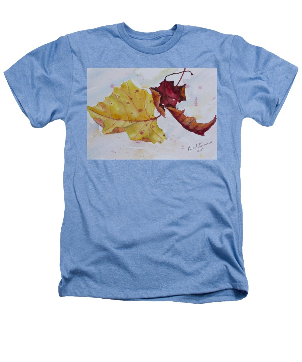 Fall Heathers T-Shirt featuring the painting Tumbling by Ruth Kamenev
