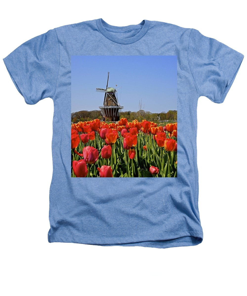 Tulips Heathers T-Shirt featuring the photograph Two Lips by Robert Pearson