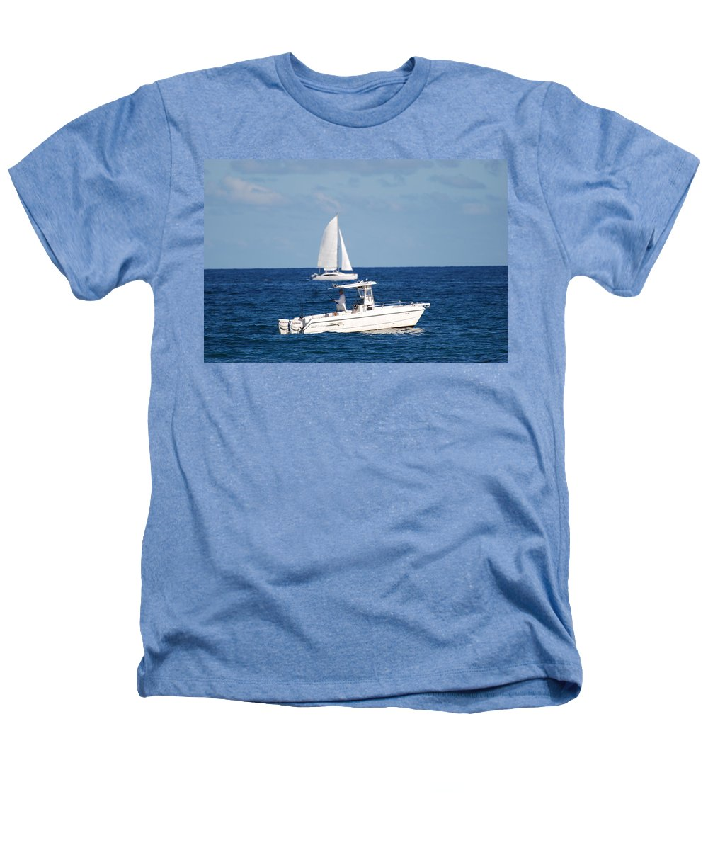 Sea Scape Heathers T-Shirt featuring the photograph Two Ships That Pass Thru The Day by Rob Hans