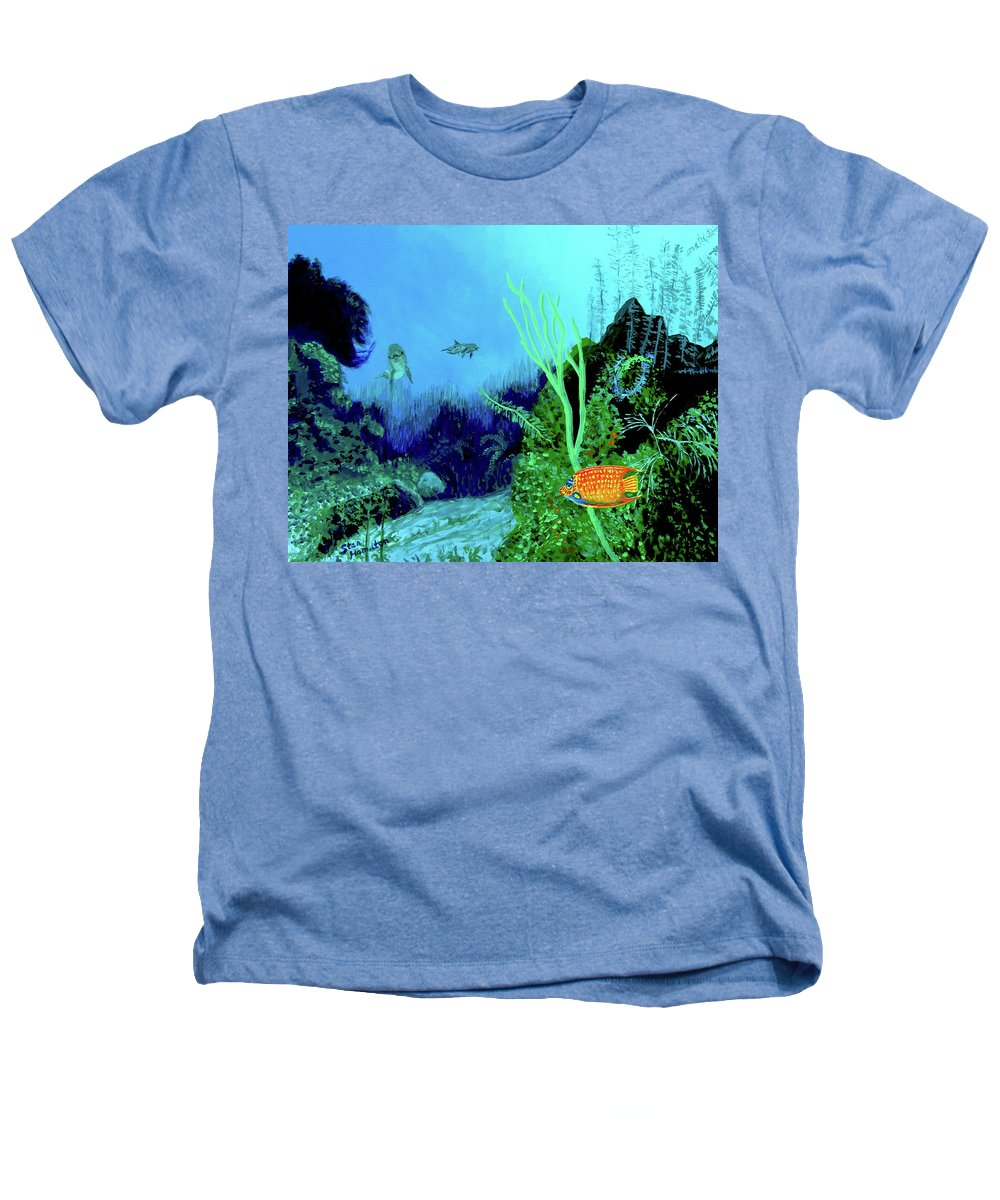 Wildlife Heathers T-Shirt featuring the painting Underwater by Stan Hamilton