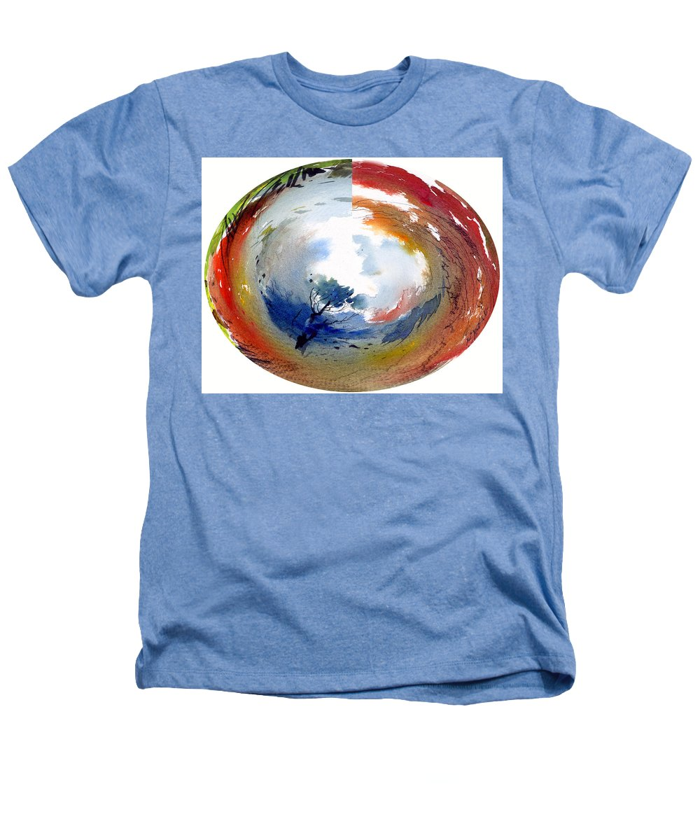 Landscape Water Color Watercolor Digital Mixed Media Heathers T-Shirt featuring the painting Universe by Anil Nene