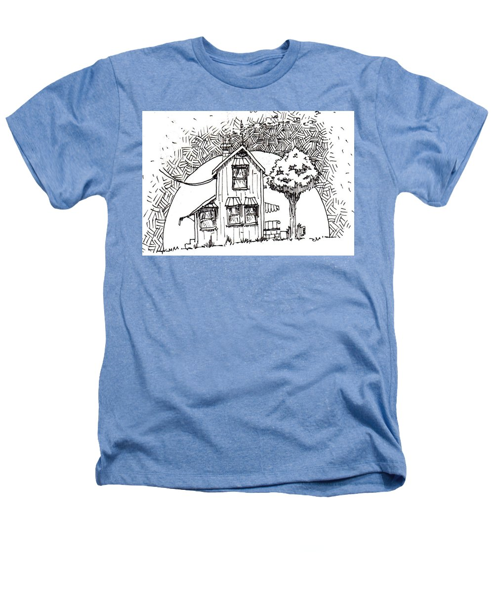 House Heathers T-Shirt featuring the drawing Untitled by Tobey Anderson