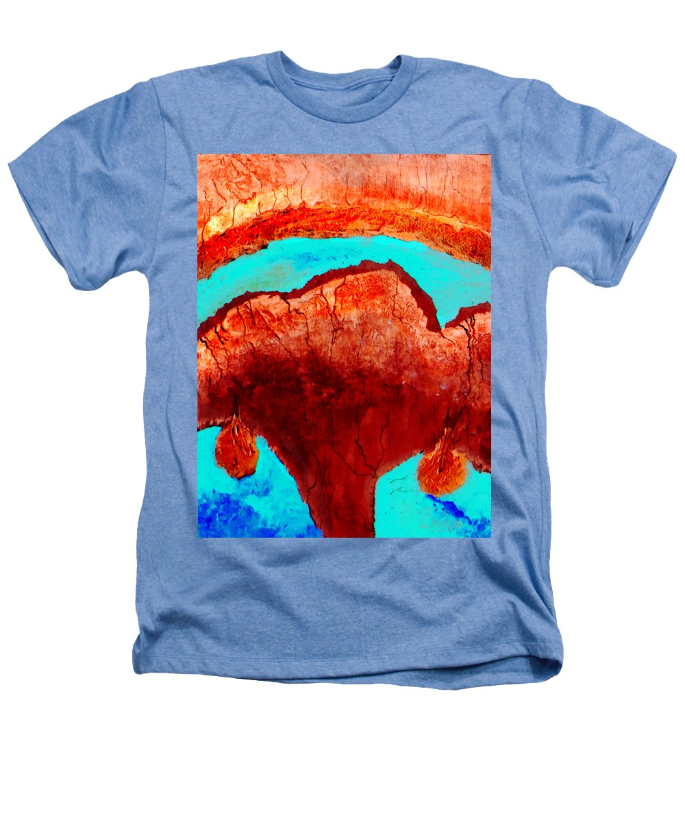 Color Heathers T-Shirt featuring the painting Uterus by Veronica Jackson