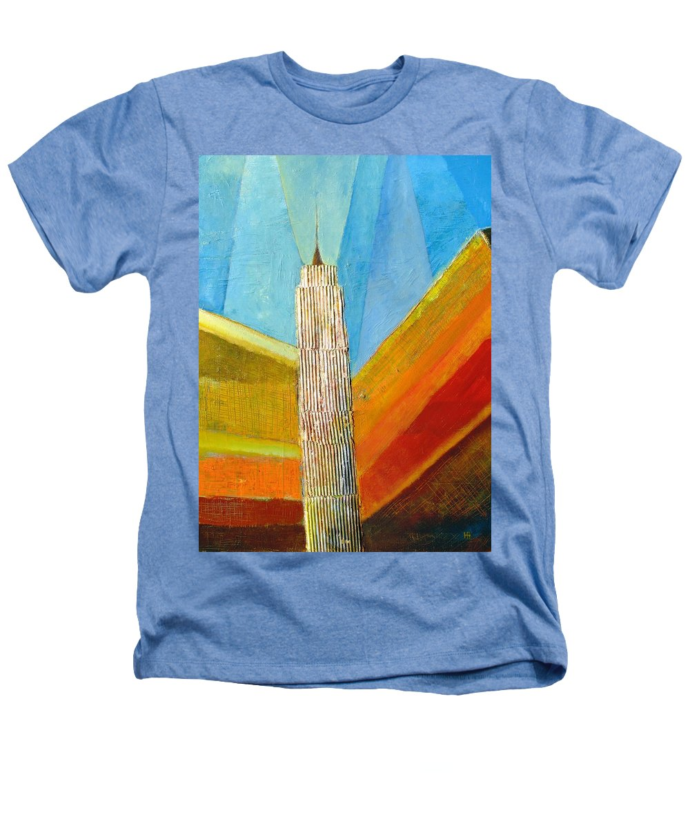 Abstract Cityscape Heathers T-Shirt featuring the painting View From 34th St by Habib Ayat