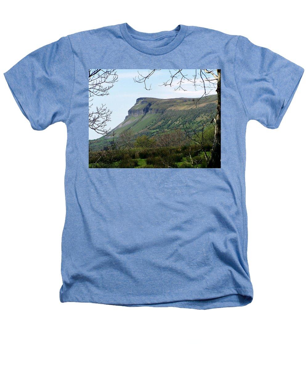 Irish Heathers T-Shirt featuring the photograph View Of Benbulben From Glencar Lake Ireland by Teresa Mucha