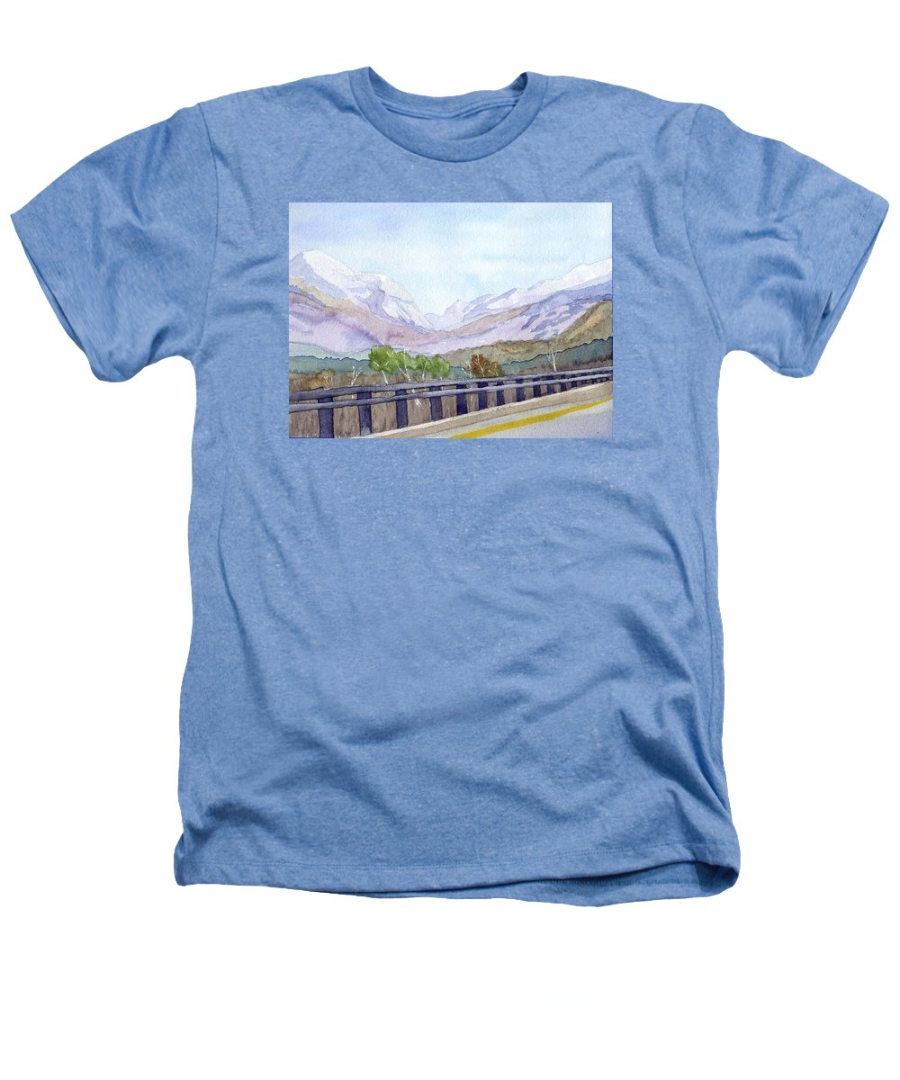 Franconia Notch Heathers T-Shirt featuring the painting View Of Franconia Notch by Sharon E Allen